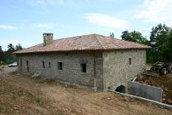 Maison d'habitation en maçonnerie de pierres - Fin de chantier - Vernoux (Ardèche) en 2004