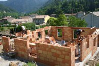 Lotissement HLM Les Chênes verts en brique de terre cuite R20 - Les Ollières (Ardèche) en 2006