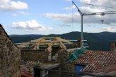 Restauration de toiture - Vue de la charpente - Gluiras  (Ardèche) en 2005