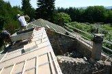 Restauration de toiture, réalisations des arases - Brune (Ardèche) en 2006