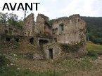 Rénovation d'une ruine à Dunière ( Ardèche) en 2005 - Avant travaux